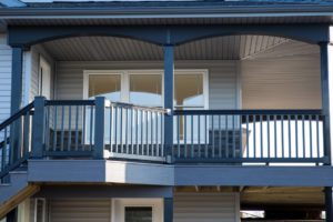 Porch with Black Vinyl Railing